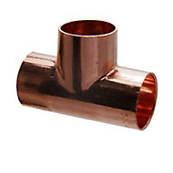 Copper End feed Equal Tee (Dia)22mm, Pack of 5