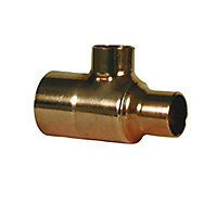 Copper End feed Reducing Tee (Dia)22mm