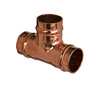 Copper Solder ring Equal Tee (Dia)15mm, Pack of 5