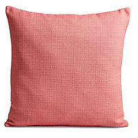 Coral Contrast Coral Cushion