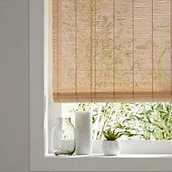 Corded Light brown Plain Daylight Roller Blind (W)120cm (L)180cm