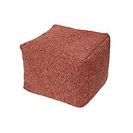 Core Vegas Bean bag cube, Burnt ochre