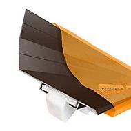 Corrapol-BT Brown Aluminium Corrugated wall flashing (L)6m (W)165mm