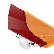 Corrapol-BT Red Aluminium Corrugated wall flashing (L)6m (W)165mm
