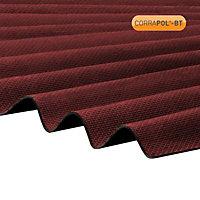 Corrapol-BT Red Bitumen Corrugated Roofing sheet (L)2m (W)930mm (T)2mm