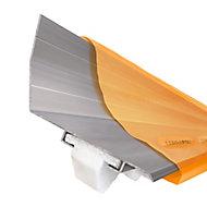 Corrapol Mill Aluminium Corrugated wall flashing (L)3m (W)165mm