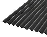 Corrubit Black Bitumen Corrugated Roofing sheet (L)2m (W)930mm (T)2.2mm