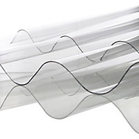Corrubit Clear Polycarbonate Corrugated Roofing sheet (L)2m (W)950mm (T)0.8mm