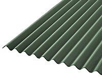 Corrubit Green Bitumen Corrugated Roofing sheet (L)2m (W)930mm (T)2.2mm