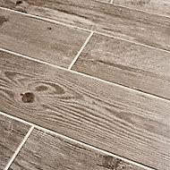 Cotage wood Beige Matt Wood effect Porcelain Floor tile, Pack of 4, (L)1200mm (W)200mm