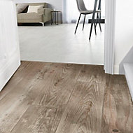 Cotage wood Beige Matt Wood effect Porcelain Wall & floor Tile Sample