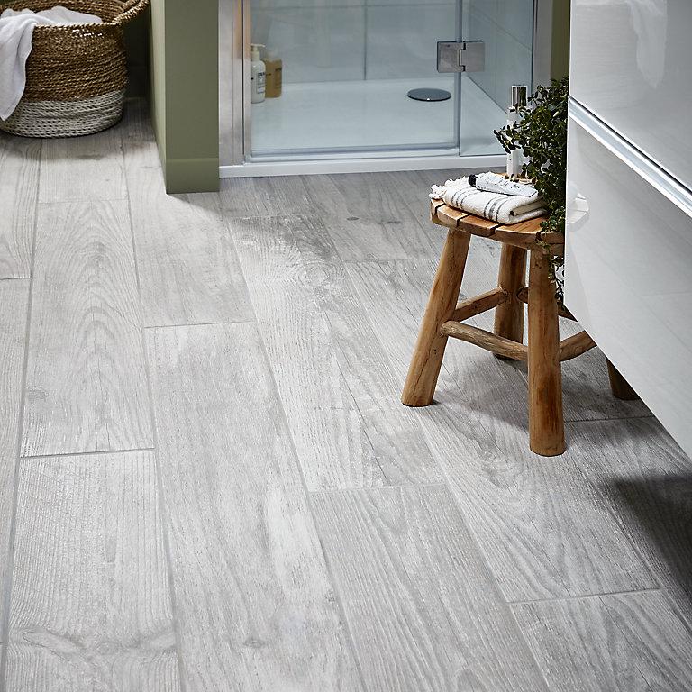 Cotage Wood Grey Matt Effect, Grey Wood Tile Bathroom
