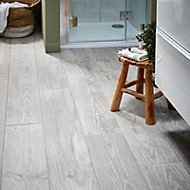 Cotage wood Grey Matt Wood effect Porcelain Wall & floor Tile Sample