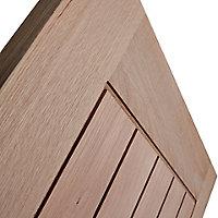 Cottage Oak veneer Internal Door, (H)1981mm (W)762mm