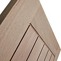 Cottage Oak veneer LH & RH Internal Door, (H)1981mm (W)610mm