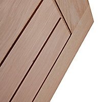 Cottage Oak veneer LH & RH Internal Door, (H)1981mm (W)686mm