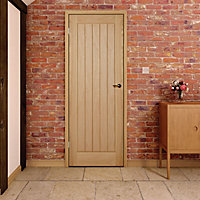 Cottage Oak veneer LH & RH Internal Door, (H)1981mm (W)762mm