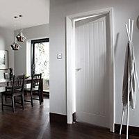 Cottage Primed White Woodgrain effect LH & RH Internal Fire Door, (H)1981mm (W)686mm