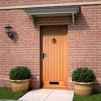 Cottage White oak veneer LH & RH External Front Door, (H)2032mm (W)813mm