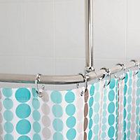 Croydex Superline Rectangular Shower curtain rod (L)2.52m
