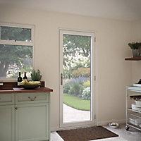 Crystal Glazed Grey Aluminium RH External Back Door, (H)2104mm (W)920mm