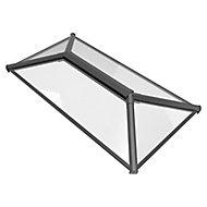 Crystal Grey Aluminium & PVC Roof lantern, (L)2.5m (W)1.5m (H)453mm
