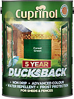 Cuprinol 5 year ducksback Forest green Fence & shed Treatment 5L