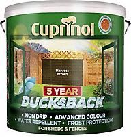 Cuprinol 5 year ducksback Harvest brown Fence & shed Wood treatment 9L