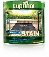 Cuprinol Black ash Matt Slip resistant Decking Wood stain, 2.5L