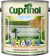 Cuprinol Garden shades Fresh rosemary Matt Wood paint, 2.5