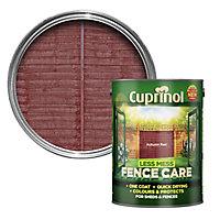 Cuprinol Less mess fence care Autumn red Matt Wood paint, 5L