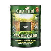 Cuprinol Less mess fence care Woodland green Matt Wood treatment, 5L