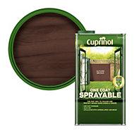 Cuprinol One coat sprayable Autumn brown Matt Fence & shed Treatment 5L