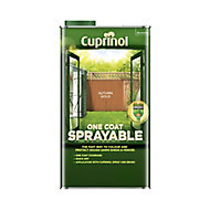Cuprinol One coat sprayable Autumn gold Matt Fence & shed Treatment 5L