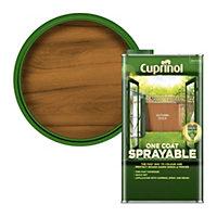 Cuprinol One coat sprayable Autumn gold Matt Fence & shed Treatment 5L