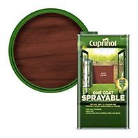 Cuprinol One coat sprayable Rich cedar Matt Fence & shed Treatment 5L