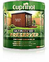 Cuprinol Ultimate Autumn brown Matt Preserver 4L