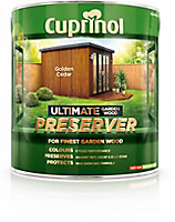 Cuprinol Ultimate Golden cedar Matt Preserver 4L
