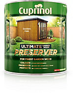 Cuprinol Ultimate Golden oak Matt Wood preserver 4