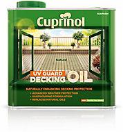 Cuprinol UV guard Natural Matt UV resistant Decking Wood oil, 2.5L