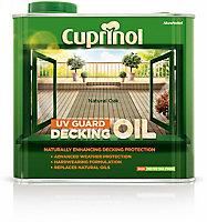 Cuprinol UV guard Natural oak Matt Decking Wood oil, 2.5L