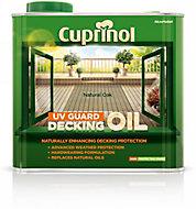 Cuprinol UV guard Natural oak Matt UV resistant Decking Wood oil, 2.5L