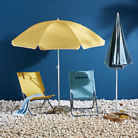 Curacao 1.8m Cream gold Standing parasol