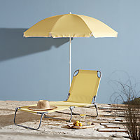 Curacao Cream gold Metal Sun lounger
