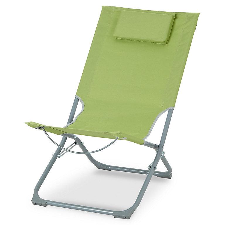 Curacao Green Metal Beach Chair Diy At B Q