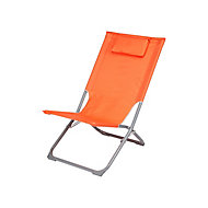 Curacao Mandarin orange Metal Beach Chair