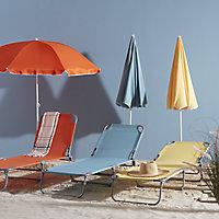 Curacao Mandarin orange Metal Sun lounger