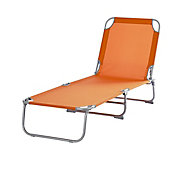 Curacao Mandarin orange Metal Sun lounger