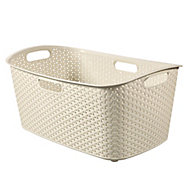 Curver My style Vintage white Laundry basket (H)27.5cm (W)38cm (D)60cm