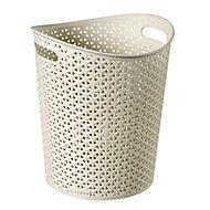 Curver My style White 13L Laundry basket (H)32.5cm (W)28cm (D)28.3cm